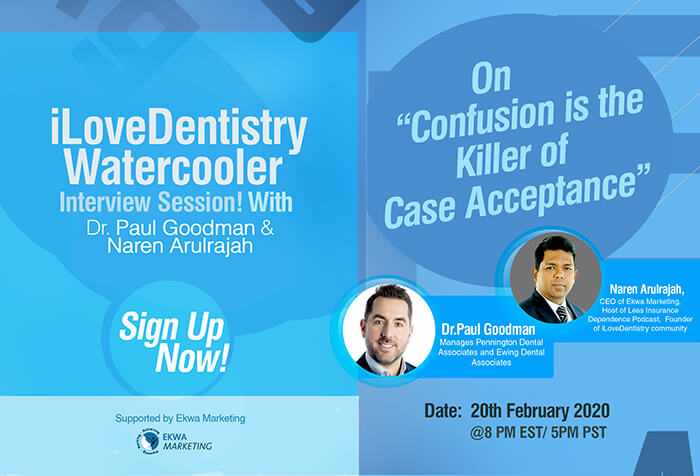 Join Watercooler With Dr. Paul Goodman